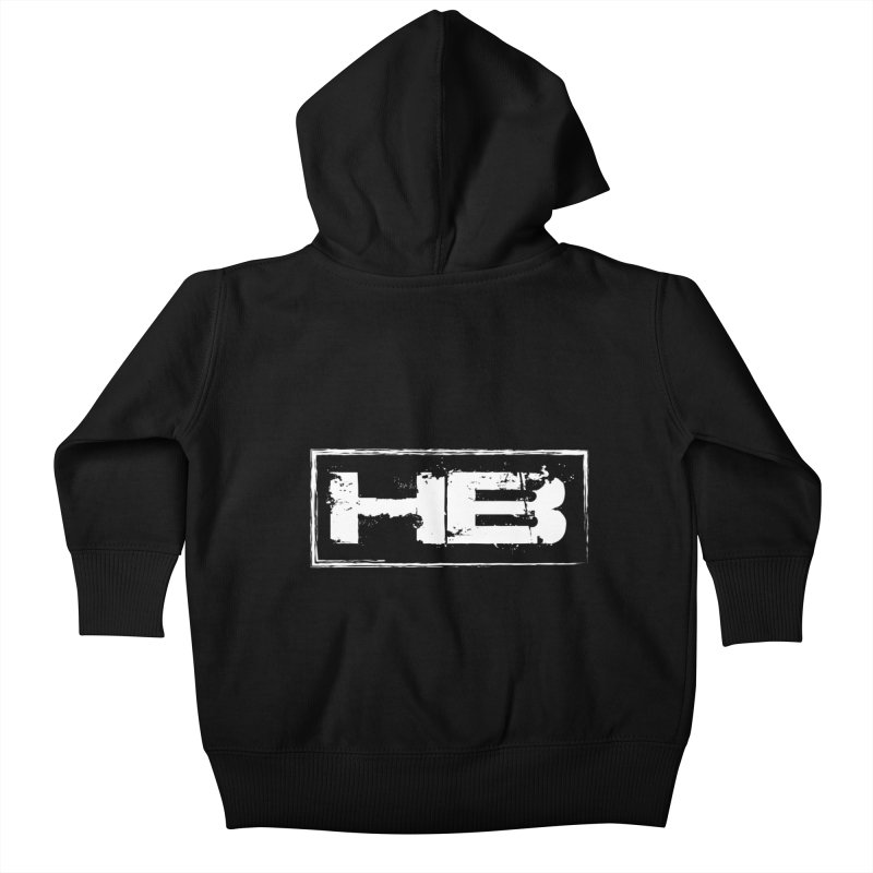 HB logo Kids Baby Zip-Up Hoody by heavybrush's Artist Shop