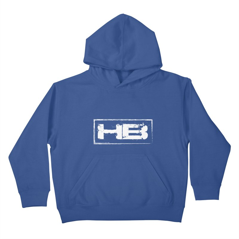 HB logo Kids Pullover Hoody by heavybrush's Artist Shop