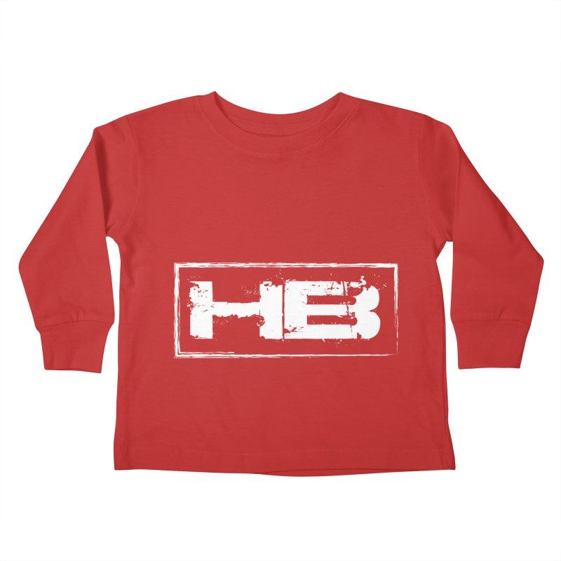 HB logo Kids Toddler Longsleeve T-Shirt by heavybrush's Artist Shop