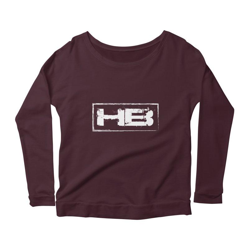 HB logo Women's Scoop Neck Longsleeve T-Shirt by heavybrush's Artist Shop