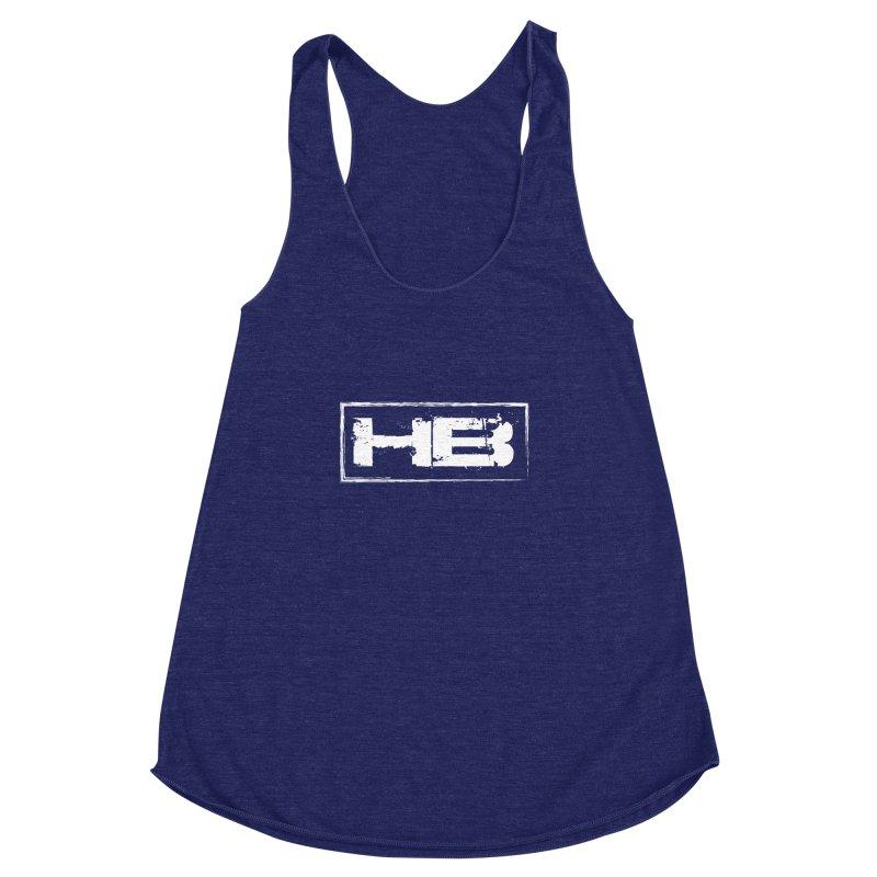 HB logo Women's Racerback Triblend Tank by heavybrush's Artist Shop