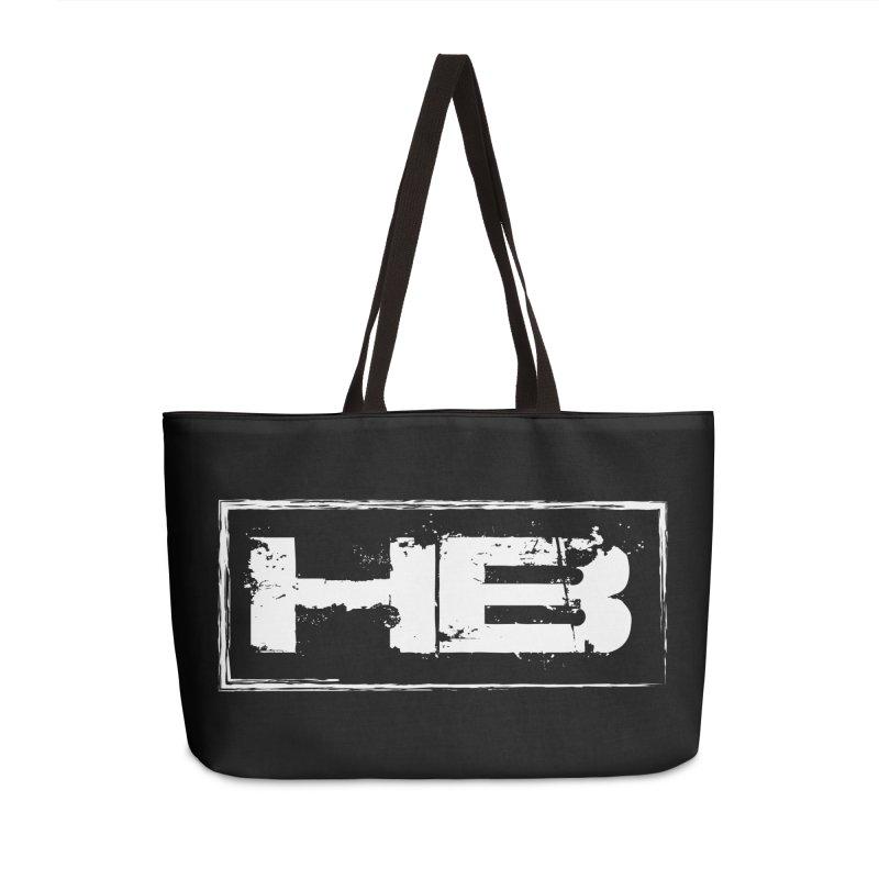 HB logo Accessories Weekender Bag Bag by heavybrush's Artist Shop
