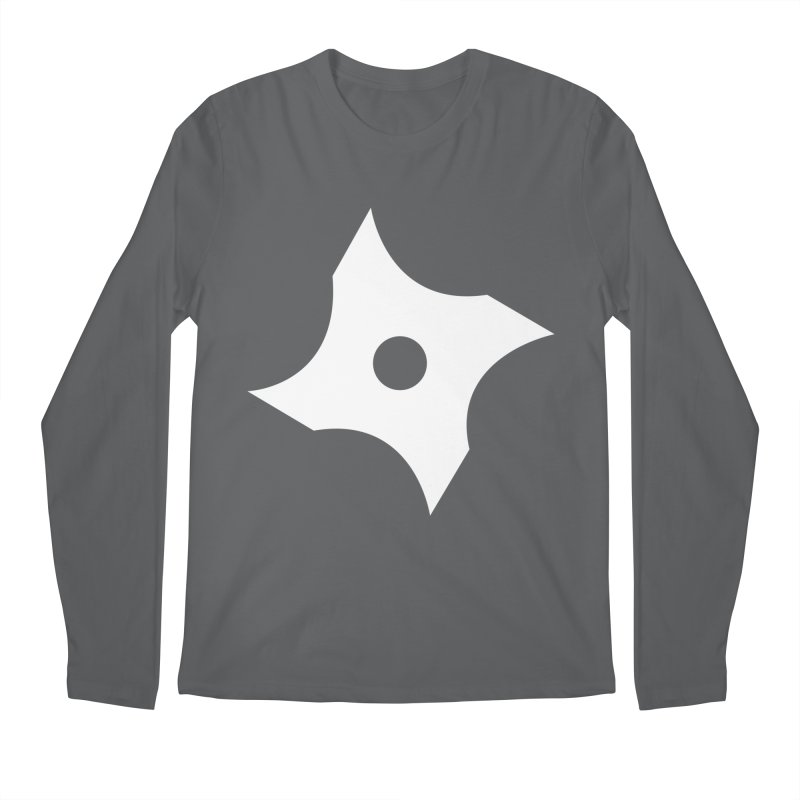 Heavybrush ninja star Men's Longsleeve T-Shirt by heavybrush's Artist Shop