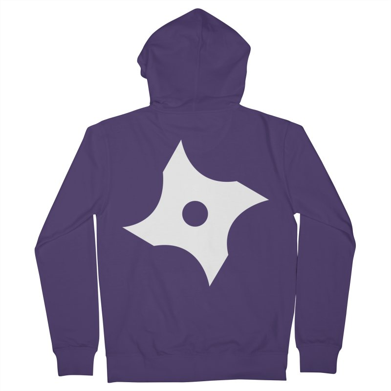 Heavybrush ninja star Women's French Terry Zip-Up Hoody by heavybrush's Artist Shop