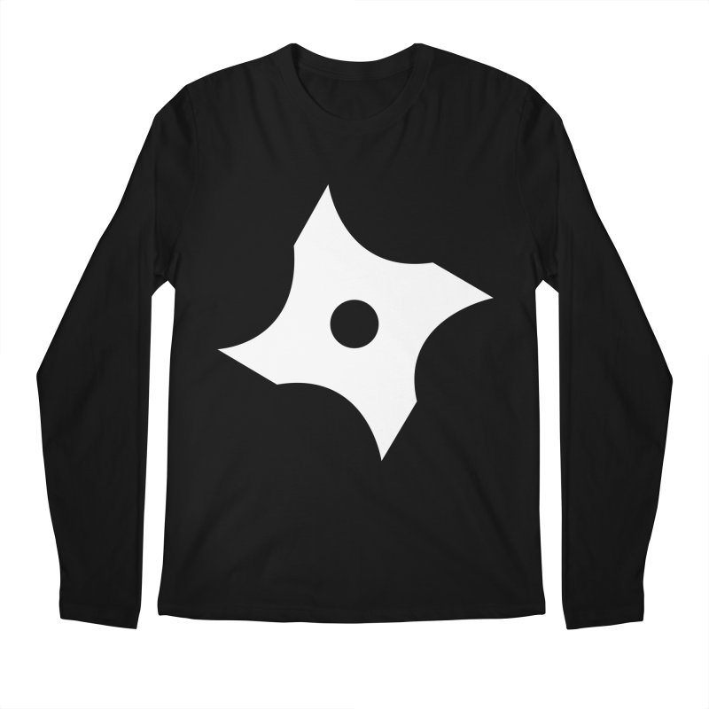 Heavybrush ninja star Men's Regular Longsleeve T-Shirt by heavybrush's Artist Shop