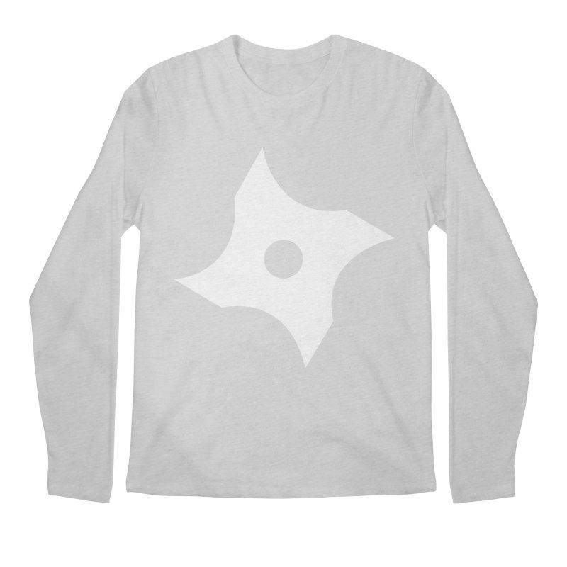 Heavybrush ninja star Men's Regular Longsleeve T-Shirt by heavybrush's Artist Shop