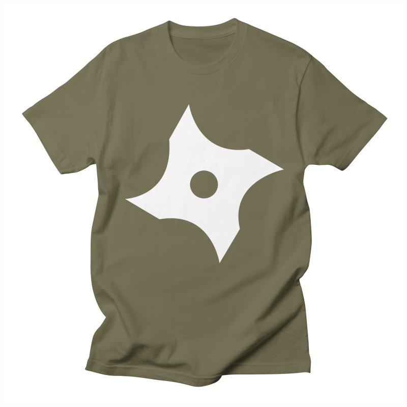 Heavybrush ninja star Men's Regular T-Shirt by heavybrush's Artist Shop