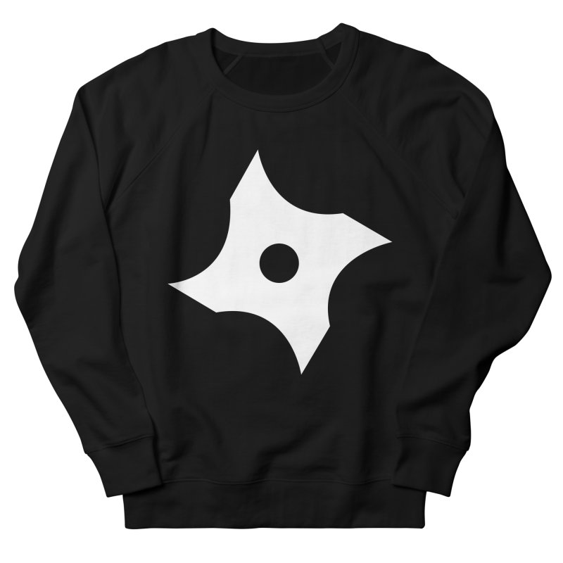 Heavybrush ninja star Women's French Terry Sweatshirt by heavybrush's Artist Shop