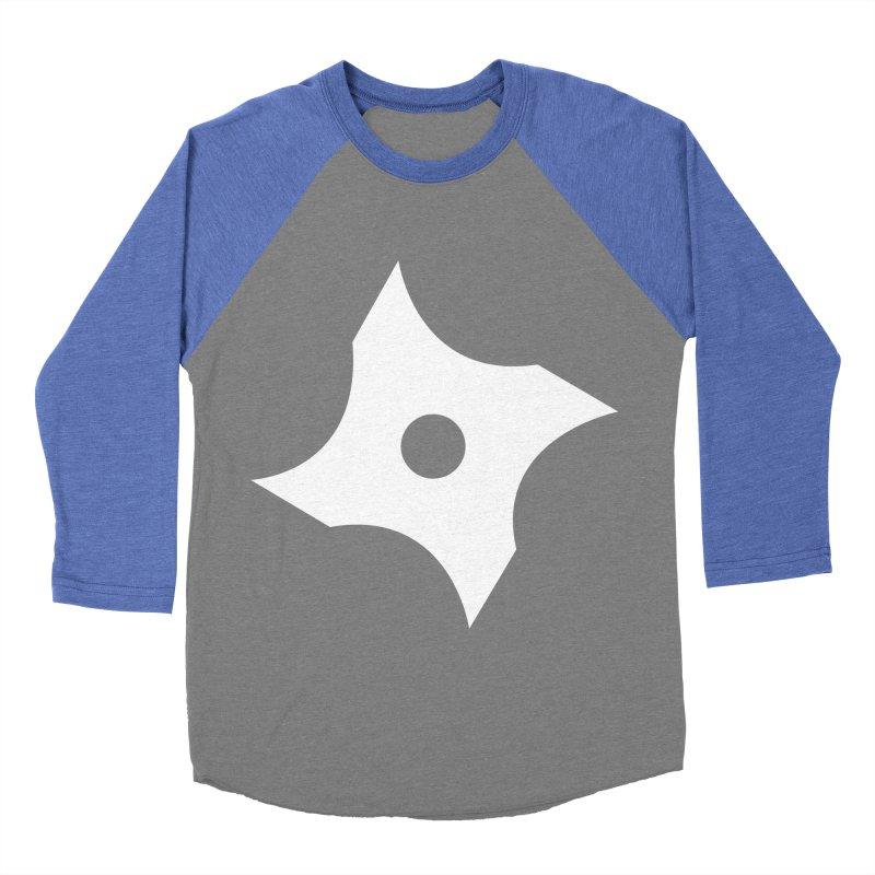 Heavybrush ninja star Men's Baseball Triblend Longsleeve T-Shirt by heavybrush's Artist Shop