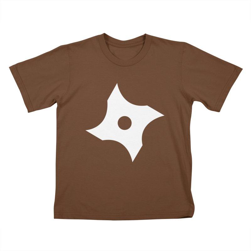 Heavybrush ninja star Kids T-Shirt by heavybrush's Artist Shop