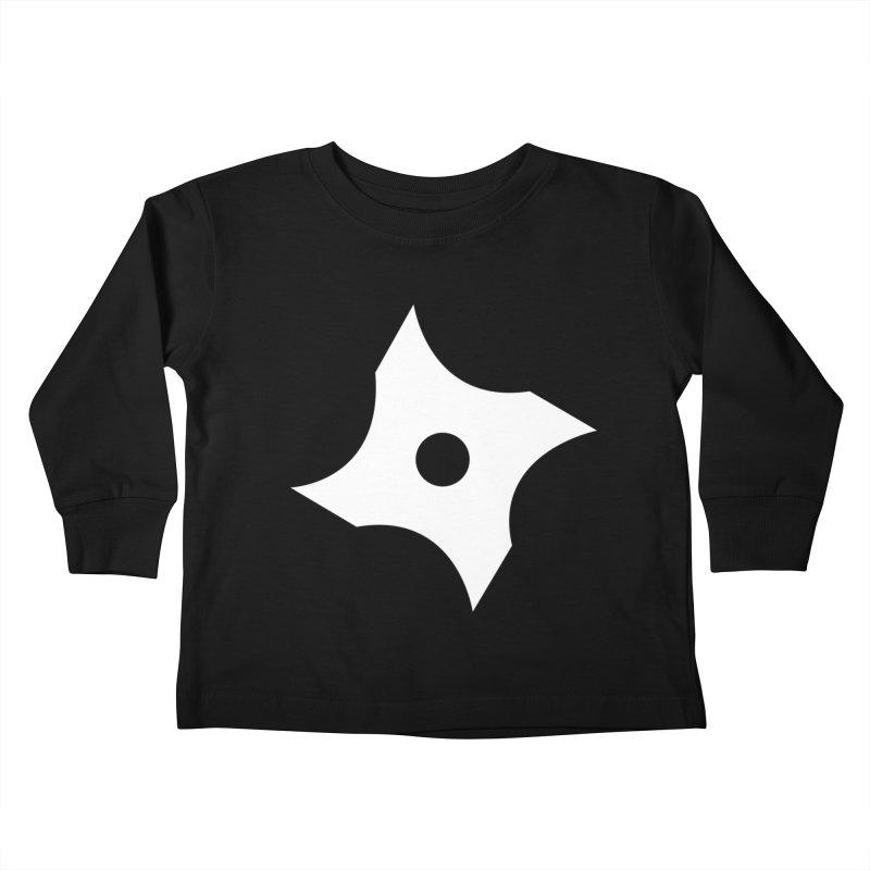 Heavybrush ninja star Kids Toddler Longsleeve T-Shirt by heavybrush's Artist Shop