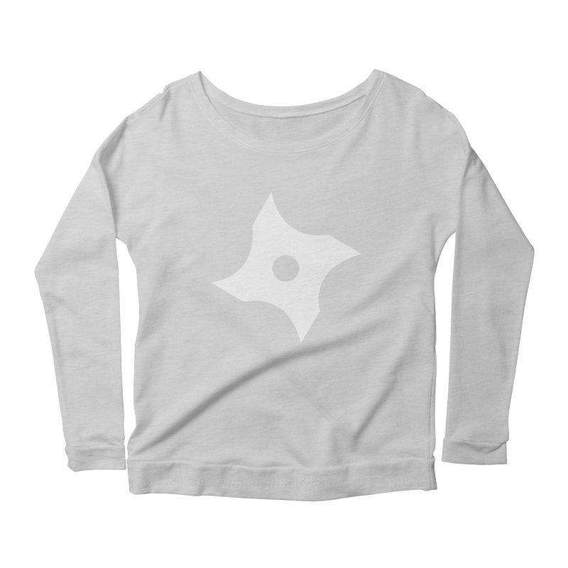 Heavybrush ninja star Women's Scoop Neck Longsleeve T-Shirt by heavybrush's Artist Shop