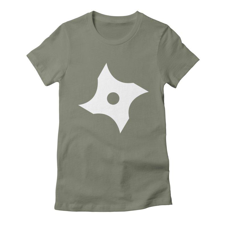 Heavybrush ninja star Women's Fitted T-Shirt by heavybrush's Artist Shop
