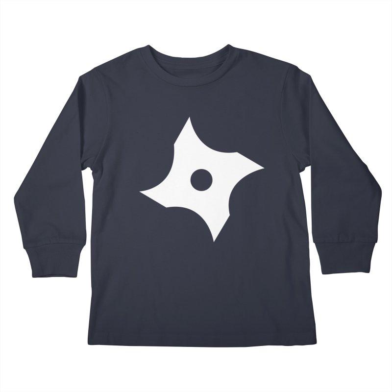 Heavybrush ninja star Kids Longsleeve T-Shirt by heavybrush's Artist Shop