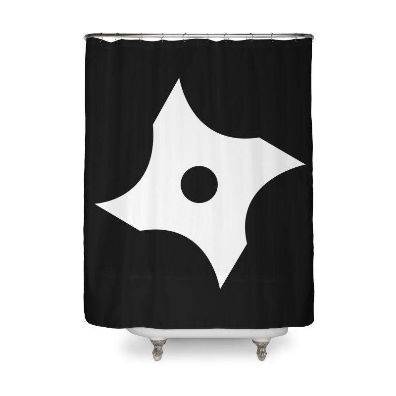 Heavybrush ninja star Home Shower Curtain by heavybrush's Artist Shop