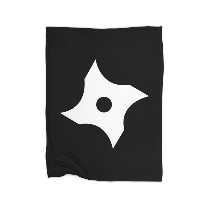 Heavybrush ninja star Home Blanket by heavybrush's Artist Shop