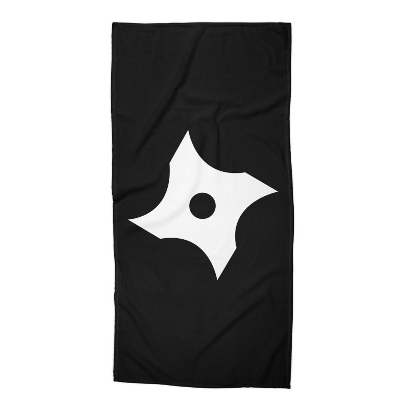 Heavybrush ninja star Accessories Beach Towel by heavybrush's Artist Shop