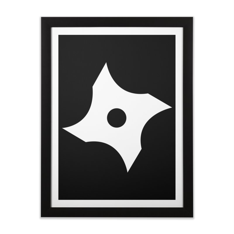 Heavybrush ninja star Home Framed Fine Art Print by heavybrush's Artist Shop