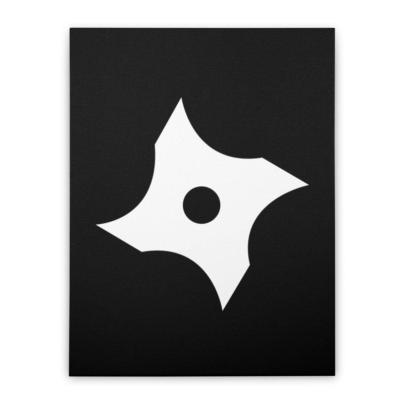 Heavybrush ninja star Home Stretched Canvas by heavybrush's Artist Shop
