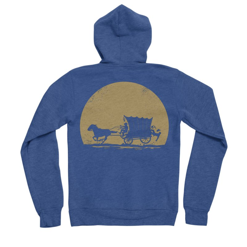 Gold Rush Men's Sponge Fleece Zip-Up Hoody by heavyhand's Artist Shop