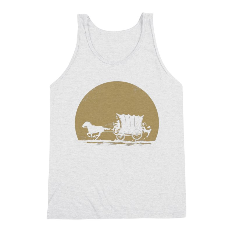 Gold Rush Men's Triblend Tank by heavyhand's Artist Shop