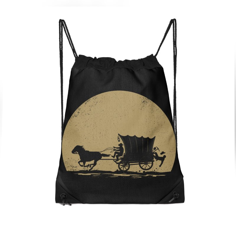 Gold Rush Accessories Drawstring Bag Bag by heavyhand's Artist Shop