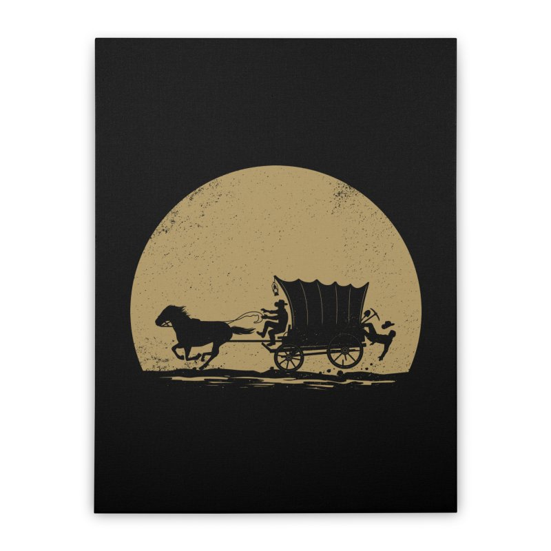Gold Rush Home Stretched Canvas by heavyhand's Artist Shop