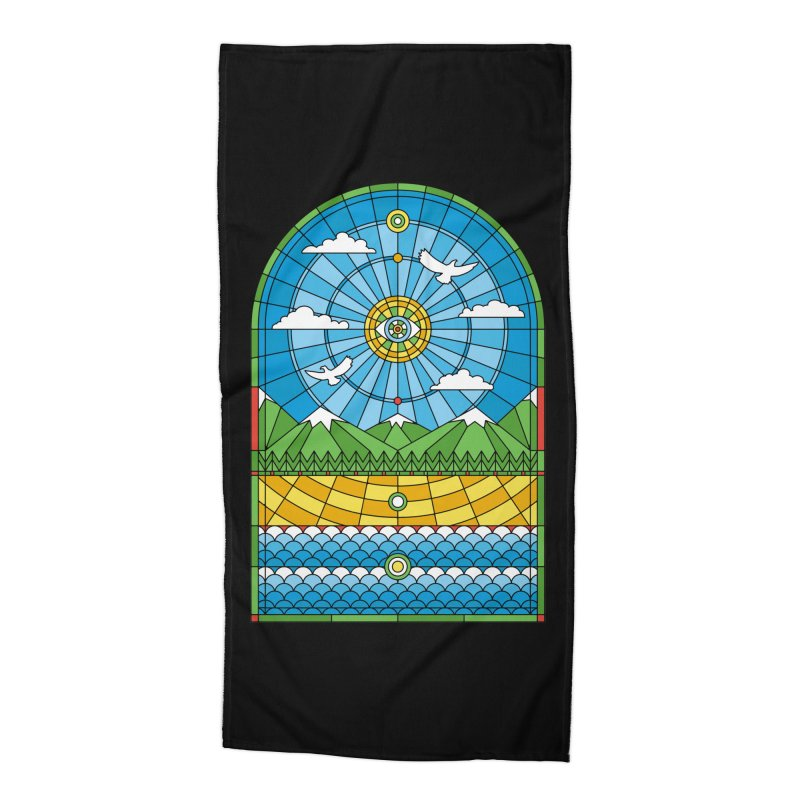 Church of Mother Nature Accessories Beach Towel by heavyhand's Artist Shop