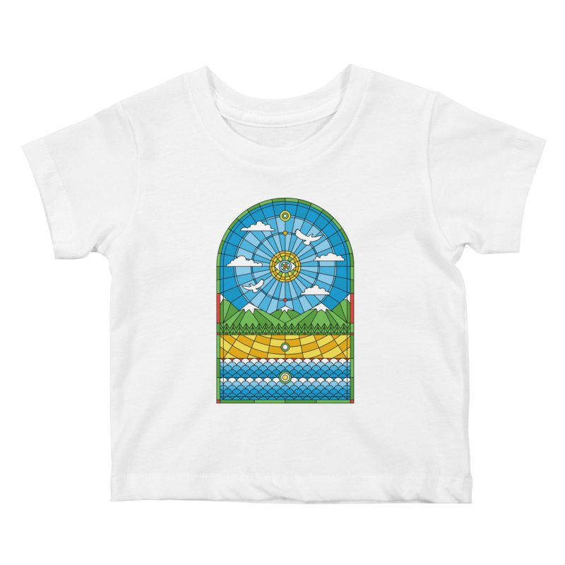 Church of Mother Nature Kids Baby T-Shirt by heavyhand's Artist Shop