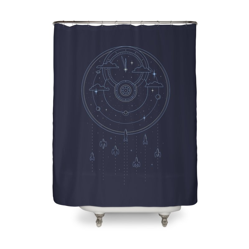 Mission through Time and Space Home Shower Curtain by heavyhand's Artist Shop