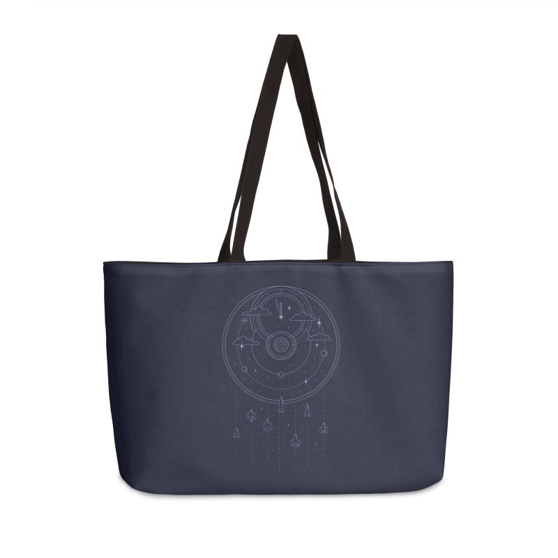 Mission through Time and Space Accessories Weekender Bag Bag by heavyhand's Artist Shop