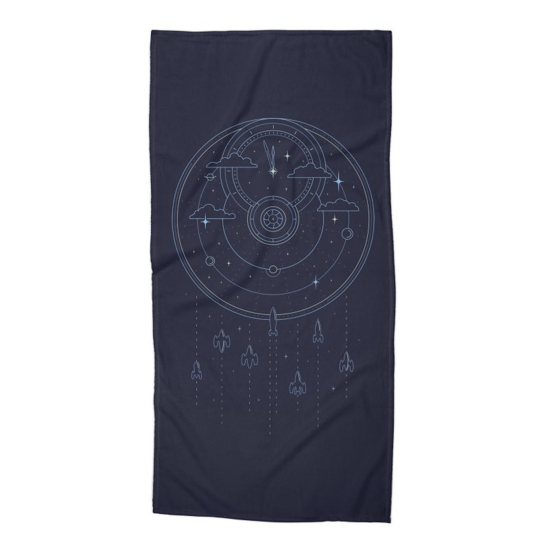 Mission through Time and Space Accessories Beach Towel by heavyhand's Artist Shop