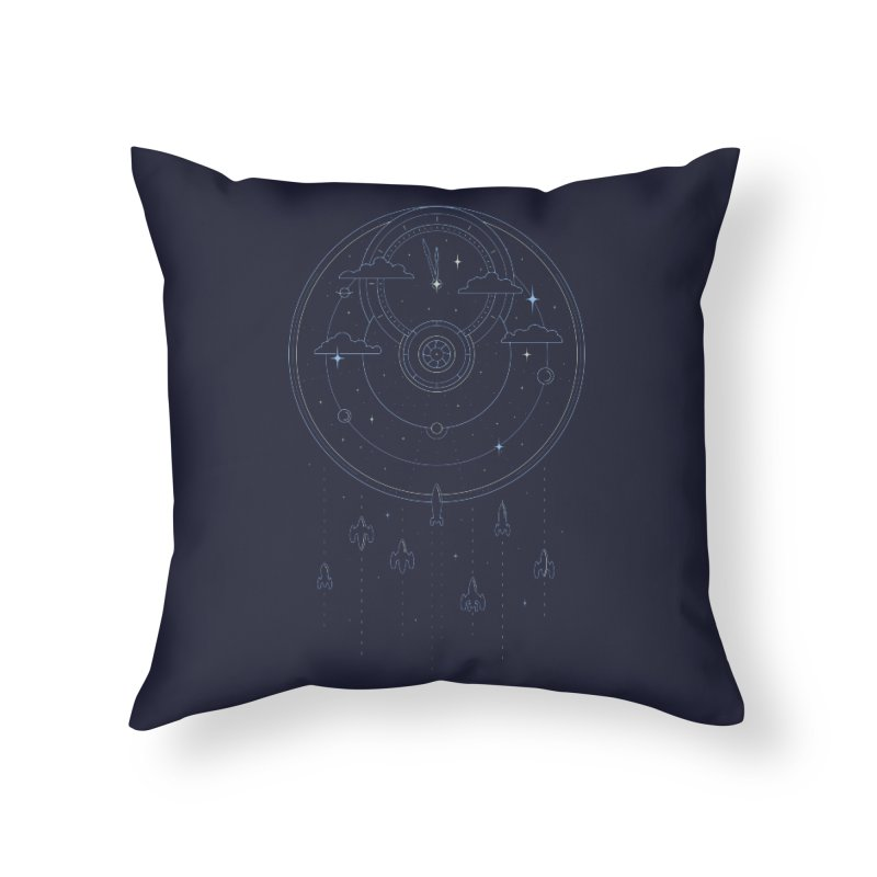 Mission through Time and Space Home Throw Pillow by heavyhand's Artist Shop