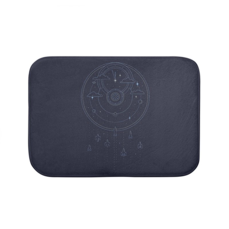 Mission through Time and Space Home Bath Mat by heavyhand's Artist Shop