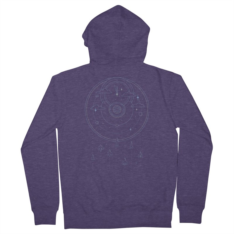 Mission through Time and Space Men's French Terry Zip-Up Hoody by heavyhand's Artist Shop