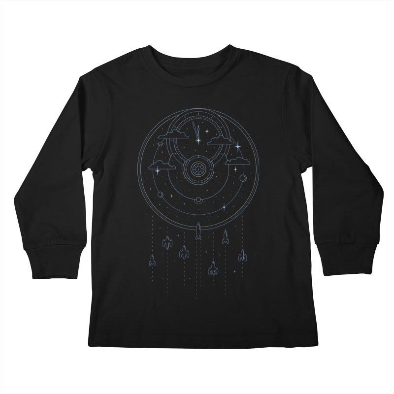 Mission through Time and Space Kids Longsleeve T-Shirt by heavyhand's Artist Shop