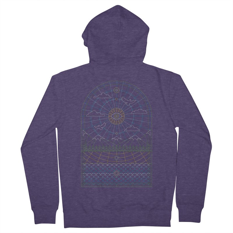 Church of Mother Nature Alt Men's French Terry Zip-Up Hoody by heavyhand's Artist Shop
