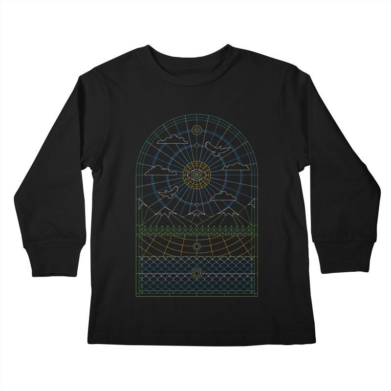 Church of Mother Nature Alt Kids Longsleeve T-Shirt by heavyhand's Artist Shop