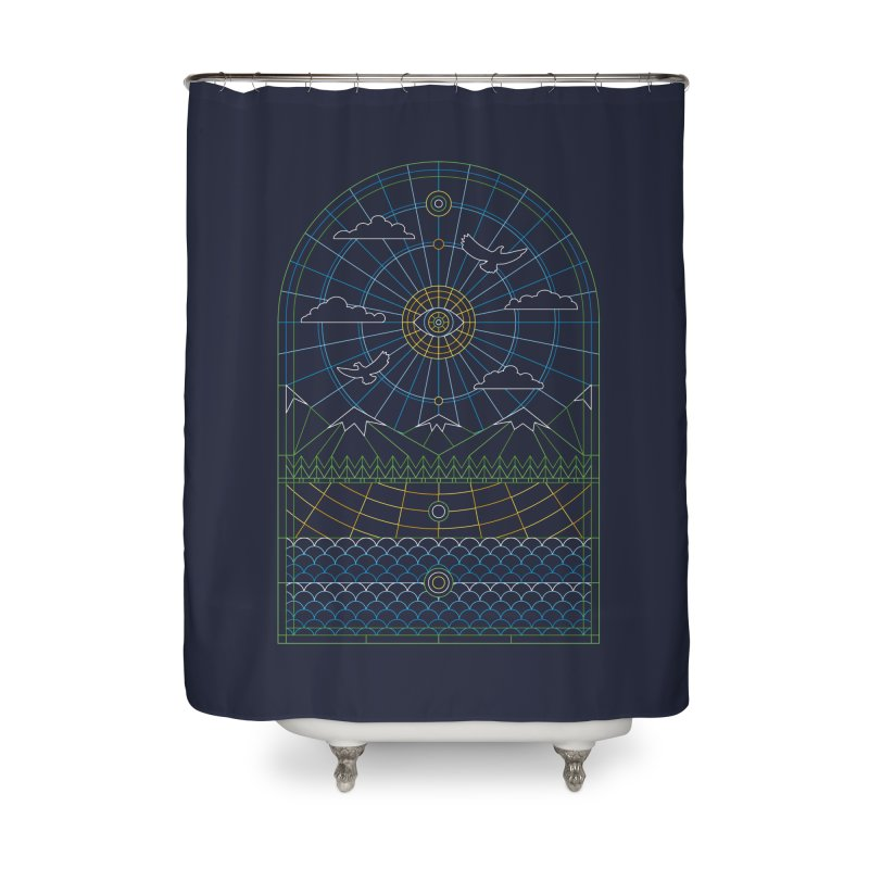 Church of Mother Nature Alt Home Shower Curtain by heavyhand's Artist Shop