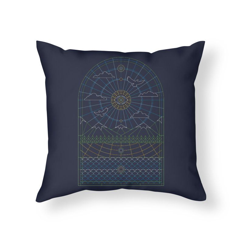Church of Mother Nature Alt Home Throw Pillow by heavyhand's Artist Shop