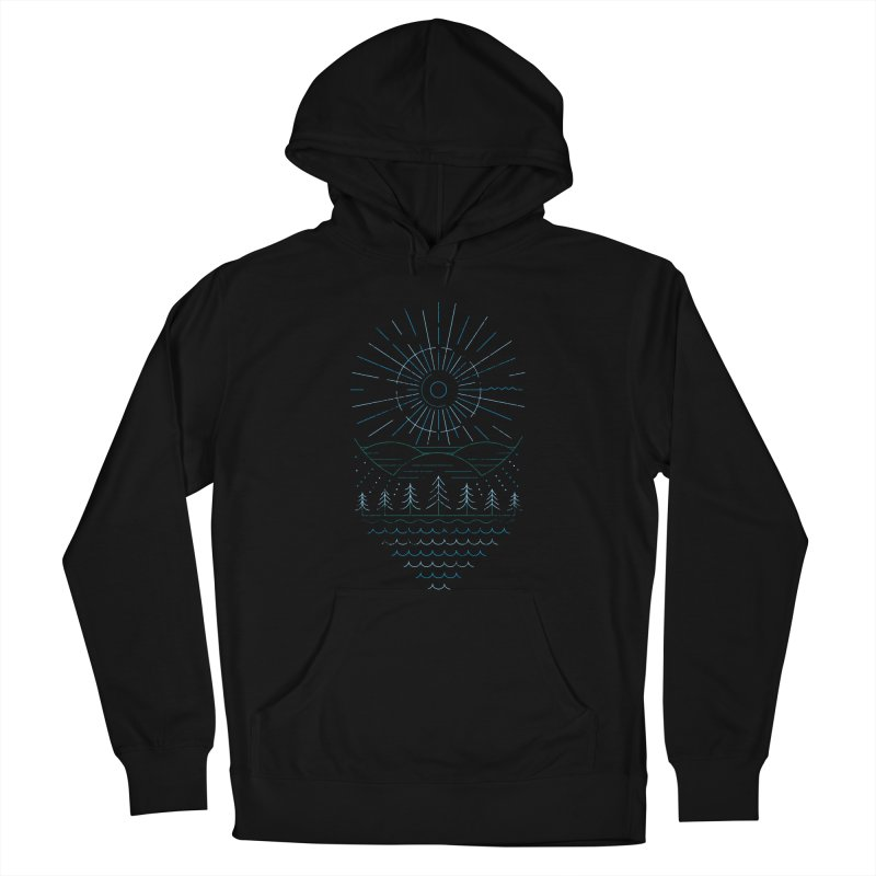 Winter Moon Women's French Terry Pullover Hoody by heavyhand's Artist Shop