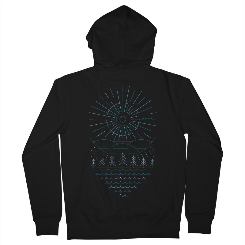Winter Moon Men's French Terry Zip-Up Hoody by heavyhand's Artist Shop