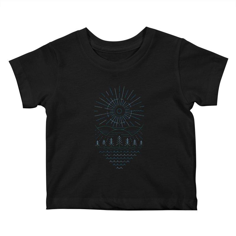 Winter Moon Kids Baby T-Shirt by heavyhand's Artist Shop