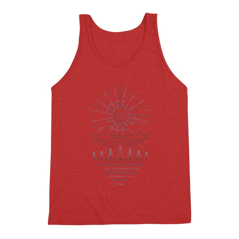 Winter Moon Men's Triblend Tank by heavyhand's Artist Shop