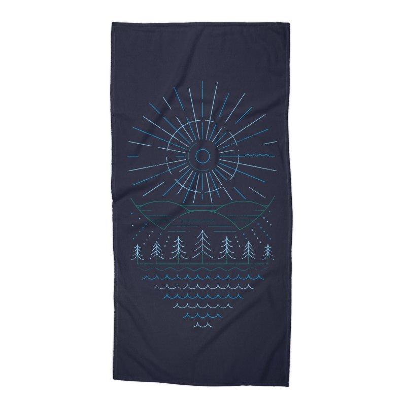 Winter Moon Accessories Beach Towel by heavyhand's Artist Shop