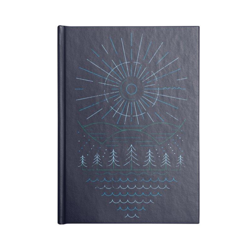 Winter Moon Accessories Blank Journal Notebook by heavyhand's Artist Shop