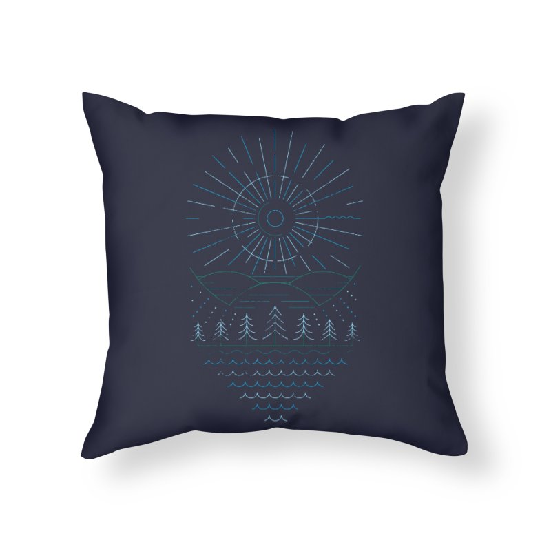 Winter Moon Home Throw Pillow by heavyhand's Artist Shop