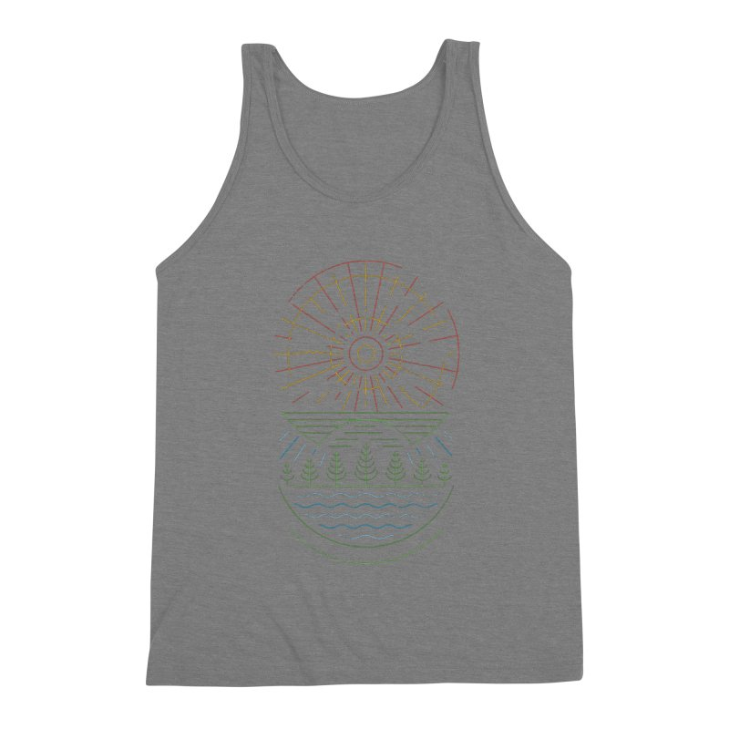 Summer Sun Men's Triblend Tank by heavyhand's Artist Shop