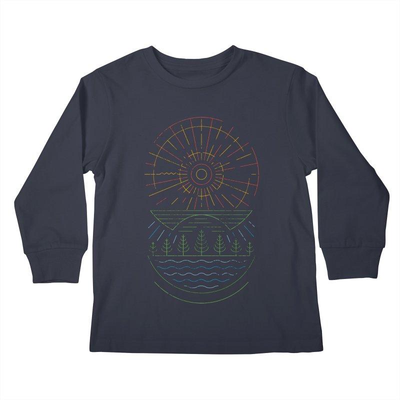 Summer Sun Kids Longsleeve T-Shirt by heavyhand's Artist Shop