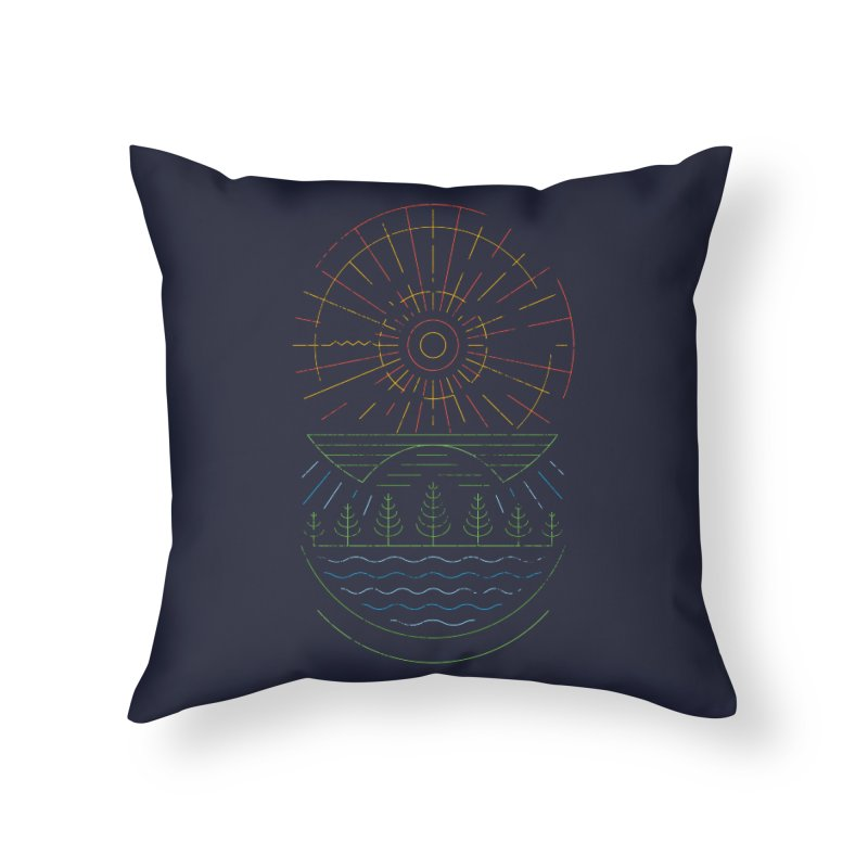 Summer Sun Home Throw Pillow by heavyhand's Artist Shop